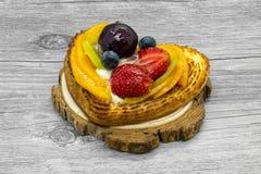 Fruit cake in heart shape Stock Photography