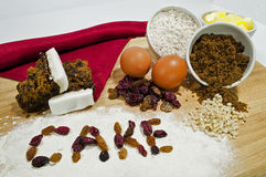 Fruit Cake Ingredients Stock Photos