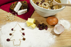 Fruit Cake Ingredients Stock Image