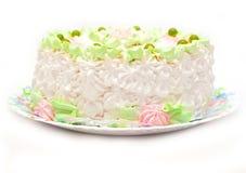 Fruit cake isolated Royalty Free Stock Photos