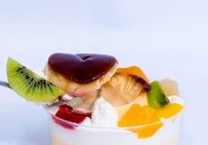 Fruit cake. Kiwi fruitcake fruit cake dessert stock image