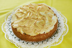 Fruit cake with meringue topping Stock Image