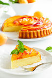 Fruit cake with peaches Royalty Free Stock Photos