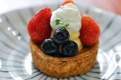 Fruit cake, fruit pie or fruit tart. Dish royalty free stock photography