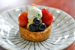 Fruit cake, fruit pie or fruit tart. Dish royalty free stock images