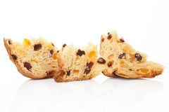 Fruit cake pieces. Stock Photo