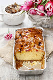 Fruit cake in rectangular pan Stock Photography