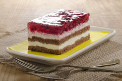 Fruit cake with red currants Stock Image