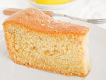 Fruit Cake Slice at Breakfast. Royalty Free Stock Photos