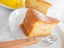 Fruit Cake Slice at Breakfast. Royalty Free Stock Photo