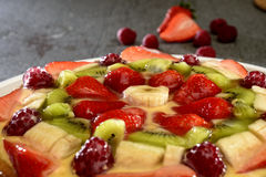 Fruit cake on stone table Royalty Free Stock Photography