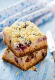 Fruit cake with streusel Royalty Free Stock Photo