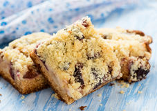Fruit cake with streusel Stock Photography