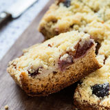 Fruit cake with streusel Stock Images