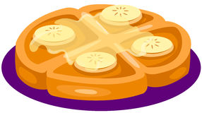 Fruit cake with syrup on top. Illustration of isolated fruit cake with syrup on top Royalty Free Stock Photo