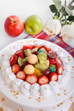 Fruit cake in table Royalty Free Stock Photography