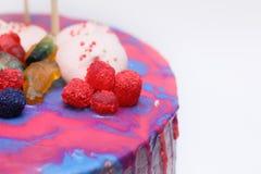 fruit cake tart stock images