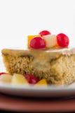 Fruit cake on white background Royalty Free Stock Photo