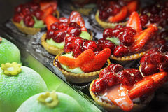 Fruit cakes Royalty Free Stock Images