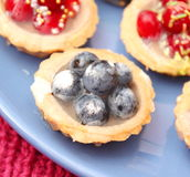 Fruit cakes Stock Photos