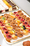 Fruit cakes on a table Royalty Free Stock Photography