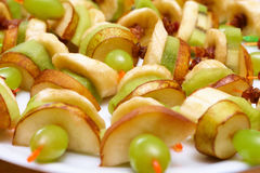 Fruit canapés Royalty Free Stock Photo