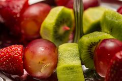 Fruit canape snack Stock Images