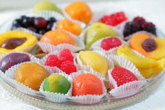 Fruit candies Stock Photography