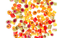 Fruit candies for background Stock Photos