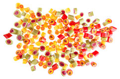 Fruit candies for background Royalty Free Stock Image