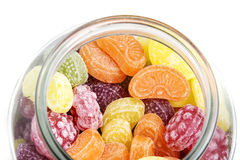Fruit candies in a glass Stock Photo