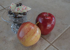 Fruit and Candies Stock Photo