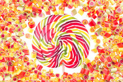 Fruit candies pattern for background Royalty Free Stock Images