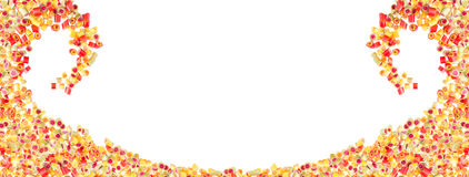 Fruit candies pattern for background Royalty Free Stock Photo