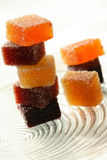 Fruit candy. Slices of multi-coloured  fruit candy Royalty Free Stock Photos