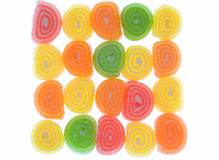Fruit candy. Colored fruit candy, sugar snail Royalty Free Stock Photo