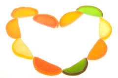 Fruit candy as frame Royalty Free Stock Photo