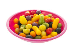 Fruit candy in bowl Royalty Free Stock Images