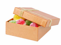 Fruit candy in box Royalty Free Stock Photo