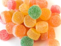 Fruit Candy In Sugar (jelly) Royalty Free Stock Images