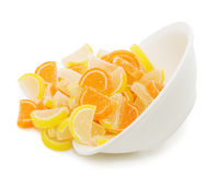 Fruit candy isolated on the white Royalty Free Stock Photo