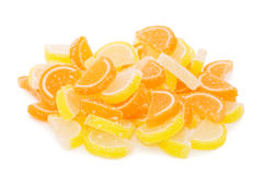 Fruit candy isolated on the white Royalty Free Stock Images