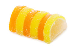 Fruit candy isolated on the white Stock Photo