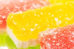 Fruit candy slices on the white Royalty Free Stock Image