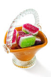 Fruit candy in a vase Royalty Free Stock Images