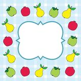 Fruit card design Stock Image