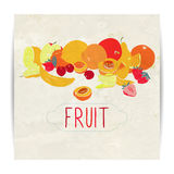 Fruit card design Stock Image
