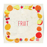 Fruit card design. Card design with various fruit Stock Images