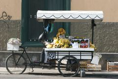 Fruit Cart. In Lima, Peru Royalty Free Stock Photo