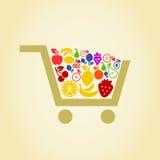 Fruit a cart Royalty Free Stock Image